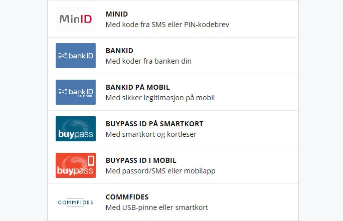 Accesul electronic la birourile publice din Norvegia